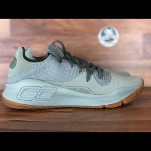 """NEW!!! Under Armour Steph Curry 4 """"olive gum"""""""